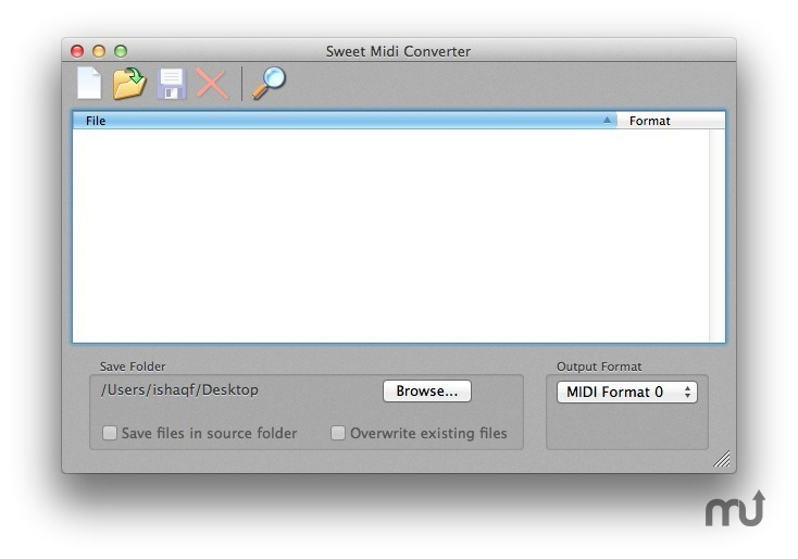 Screenshot 1 for Sweet MIDI Converter