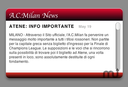Screenshot 1 for AC Milan News