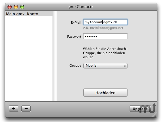 Screenshot 1 for gmxContacts