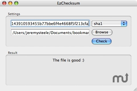 Screenshot 1 for EzChecksum