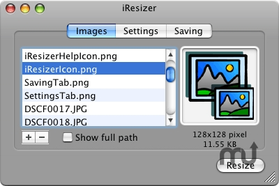 Screenshot 1 for iResizer