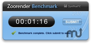 Screenshot 1 for Zoorender Benchmark Widget