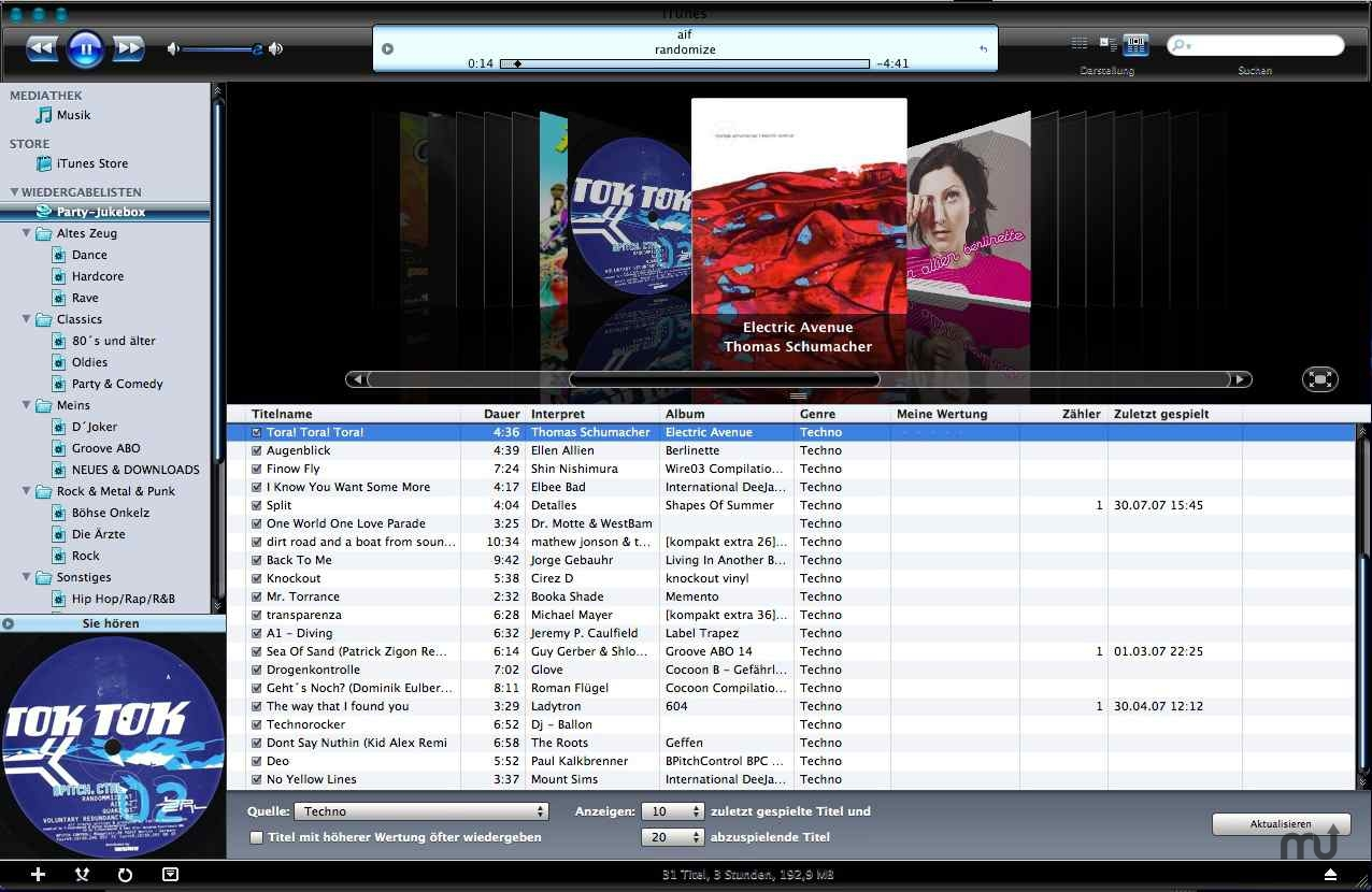 Screenshot 1 for iTunes 7.4.2 DMR Blue Vista Skin