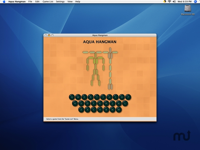 Screenshot 1 for Aqua Hangman