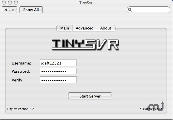 Screenshot 1 for TinySvr
