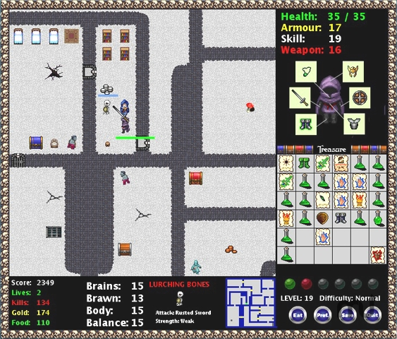 Screenshot 1 for Dinky Dungeon