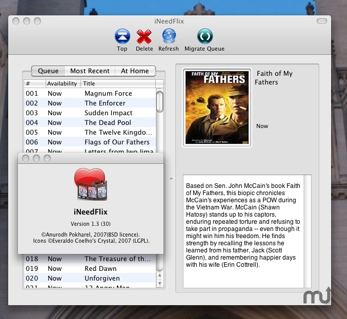 Screenshot 1 for iNeedFlix