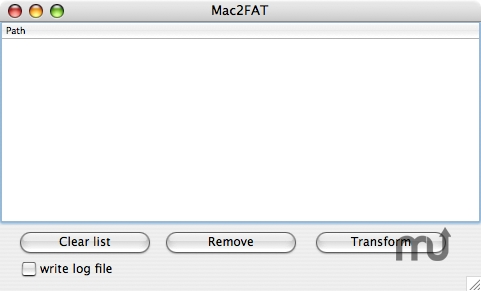 Screenshot 1 for Mac2FAT