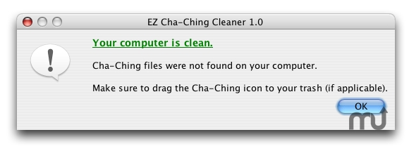 Screenshot 1 for EZ Cha-Ching Cleaner