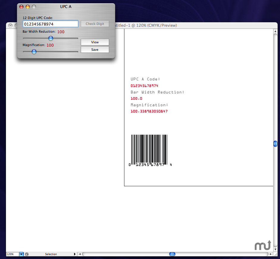 Screenshot 1 for Ray's Bar Codes