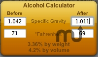 Screenshot 1 for Alcohol Calculator Widget