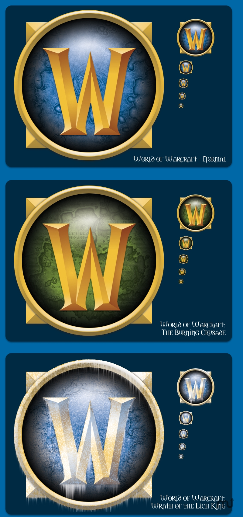 Screenshot 1 for World of Warcraft Expansion Icons