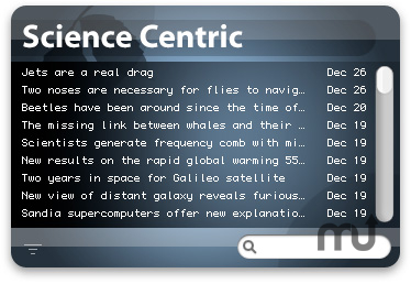Screenshot 1 for Science Centric Widget