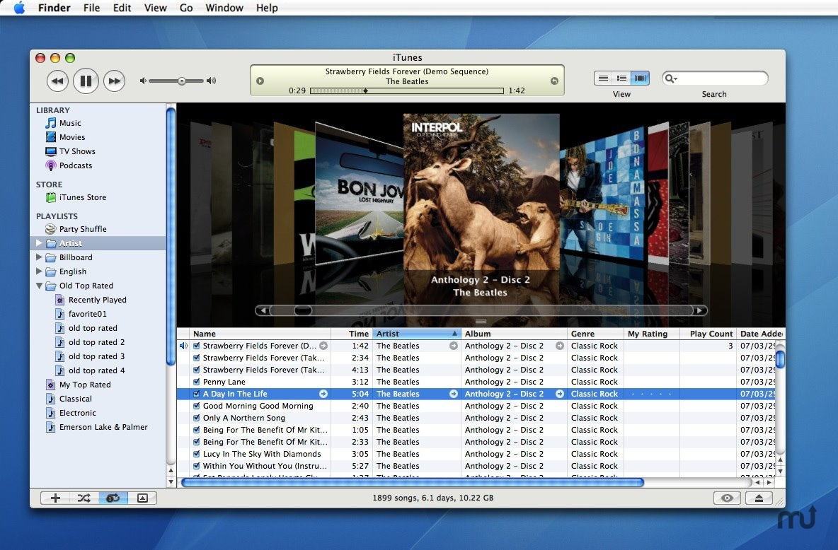 Screenshot 1 for iTunes Skin Cappuccino