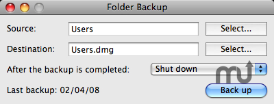Screenshot 1 for Folder Backup