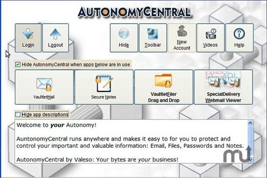 Screenshot 1 for AutonomyCentral