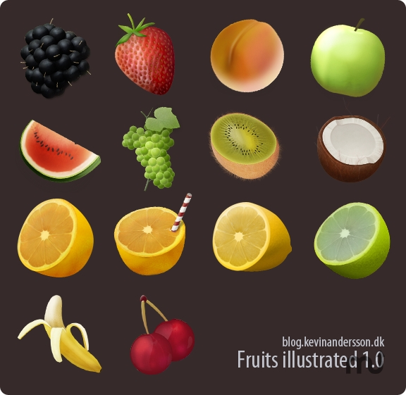 Screenshot 1 for Fruits Illustrated