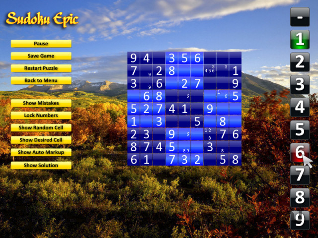 Screenshot 1 for Sudoku Epic