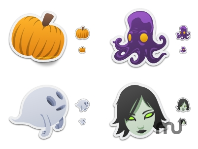 Screenshot 1 for Spooky Stickers