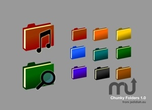 Screenshot 1 for Chunky Folder Icons
