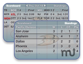 Screenshot 1 for Hockey Widget