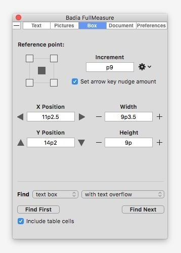 Screenshot 3 for Badia FullMeasure for QuarkXPress