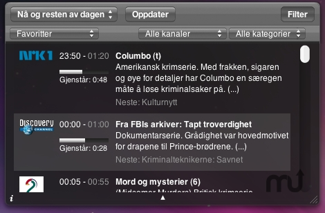 Screenshot 1 for TV-Guide Widget