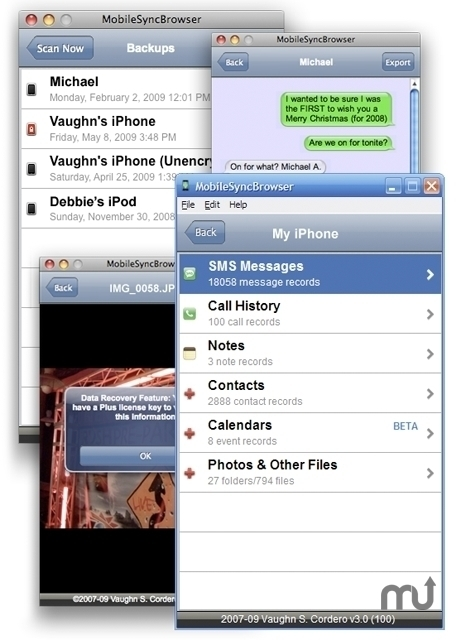 Screenshot 1 for MobileSyncBrowser