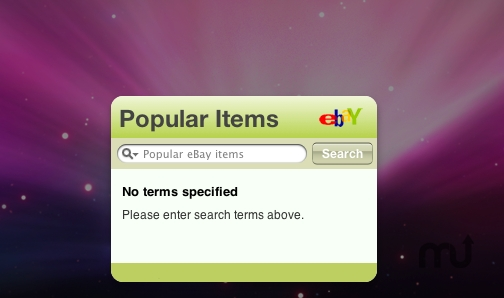 Screenshot 1 for Popular eBay Items Widget