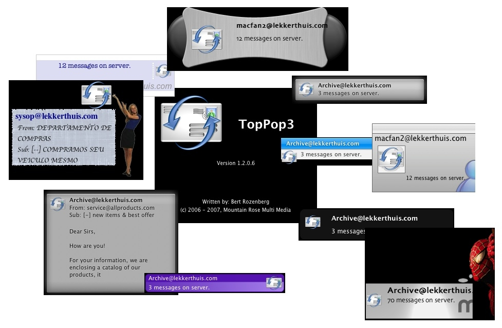 Screenshot 1 for TopPop3