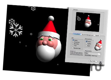 Screenshot 1 for XmasBotz Screensaver