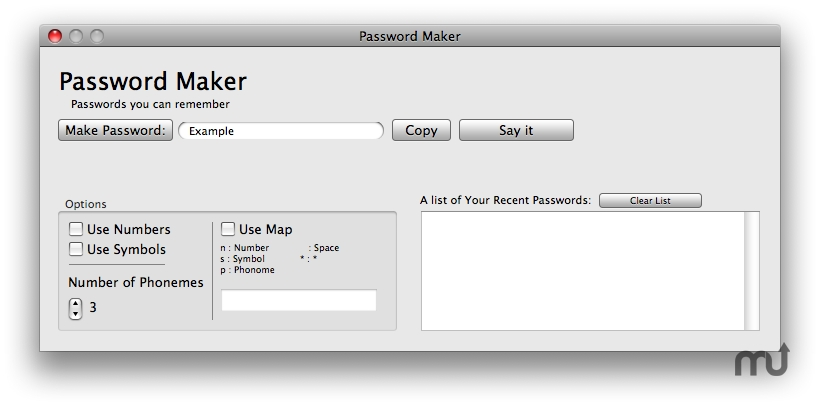 Screenshot 1 for Password Maker