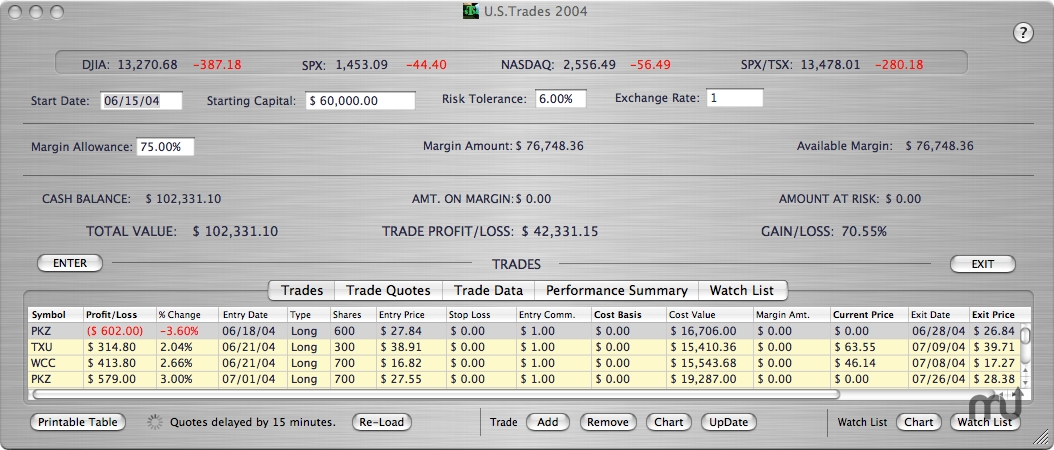 Screenshot 1 for Trade Manager Pro