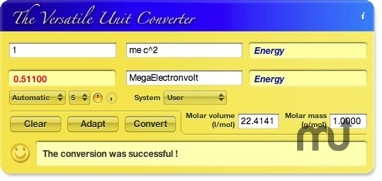 Screenshot 1 for The Versatile Unit Converter