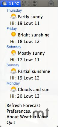 Screenshot 1 for Weather Vane