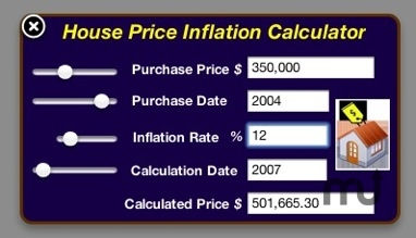 Screenshot 1 for House Price Inflation Calculator