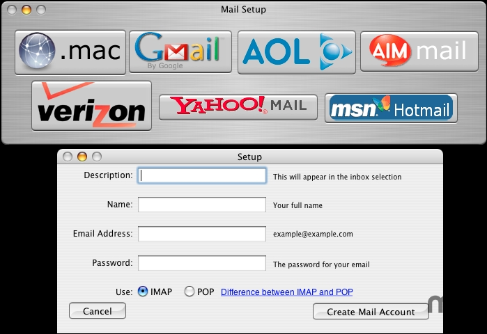 Screenshot 1 for Mail Setup