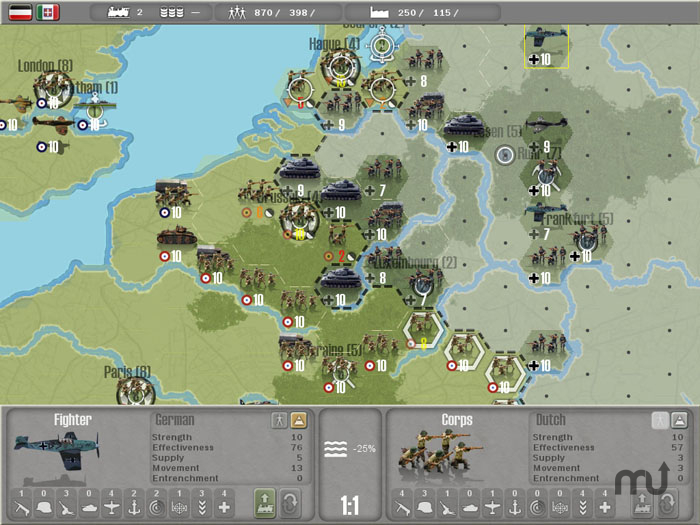 Screenshot 1 for Commander: Europe at War