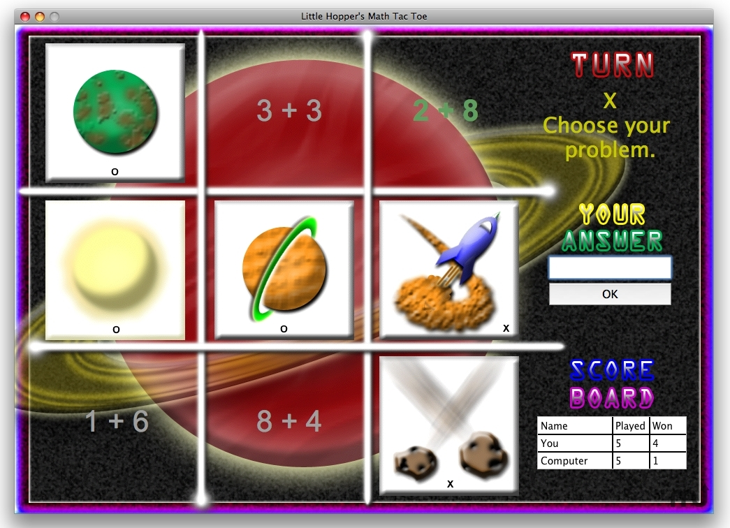 Screenshot 1 for Little Hoppers Math Tac Toe