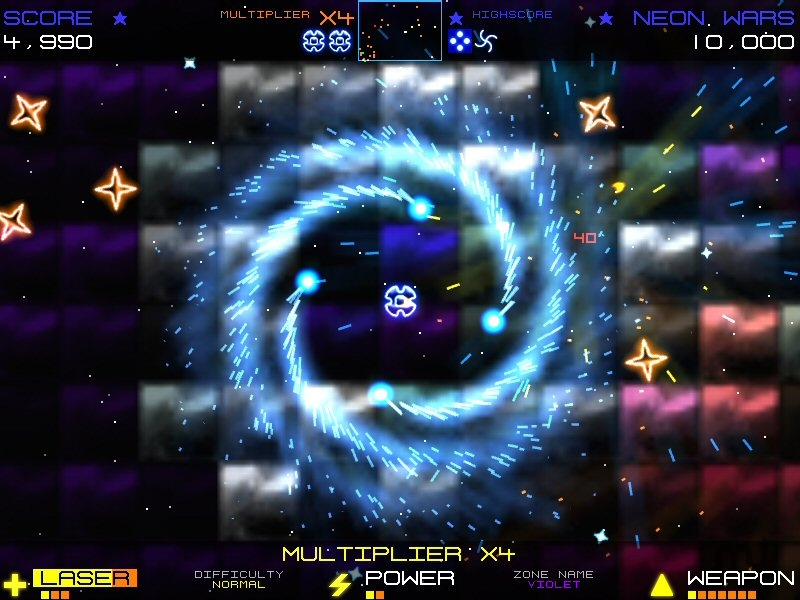 Screenshot 1 for Neon Wars Deluxe