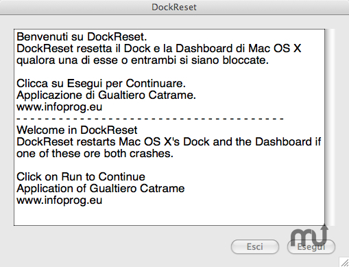 Screenshot 1 for DockReset