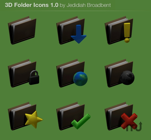 Screenshot 1 for 3D Folder icons