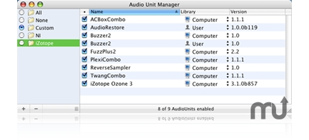 Screenshot 1 for Audio Unit Manager