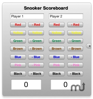 Screenshot 1 for Snooker Scoreboard