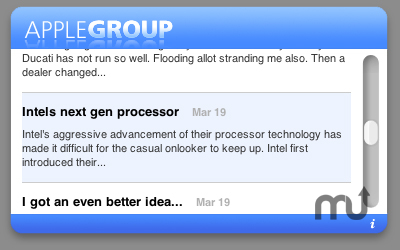 Screenshot 1 for Apple-Group Widget