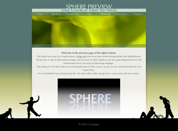 Screenshot 1 for Sphere Theme