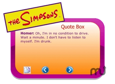 Screenshot 1 for The Simpsons Quote Box