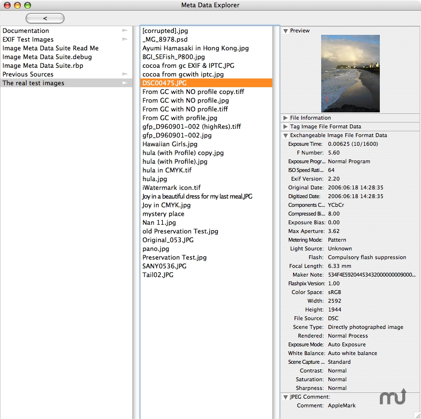 Screenshot 1 for Image Meta Data Suite