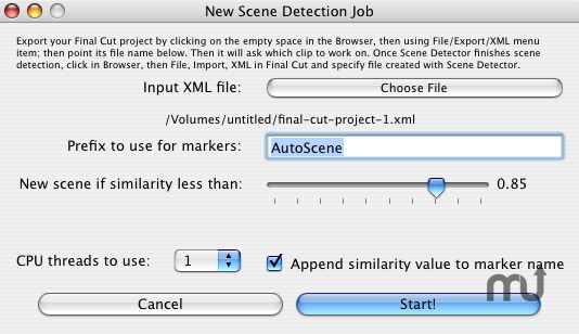 Screenshot 1 for Scene Detector