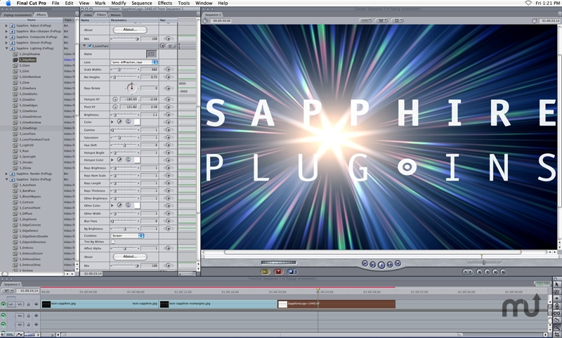 Screenshot 1 for Sapphire Plug-ins for Apple FxPlug Products